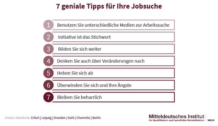 7 Tipps für die Jobsuche