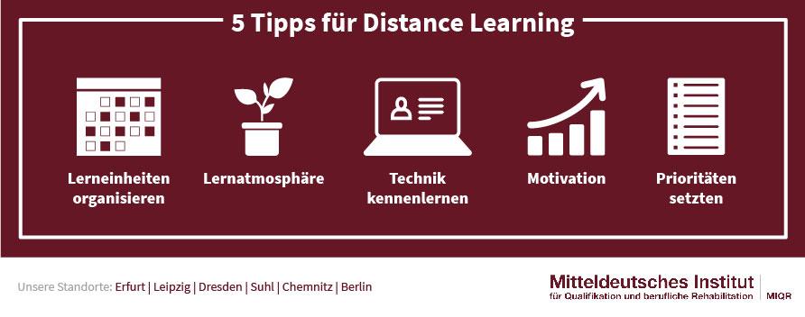 Tipps für Distance Learning